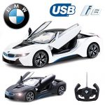 Comtechlogic CM-2217 Offiziell Lizenziert 1:14 BMW i8 Ferngesteuert RC USB Elektroauto mit Fernbedienung Öffnende Türe – Bereit Zum Rennen EP RTR – Weiß