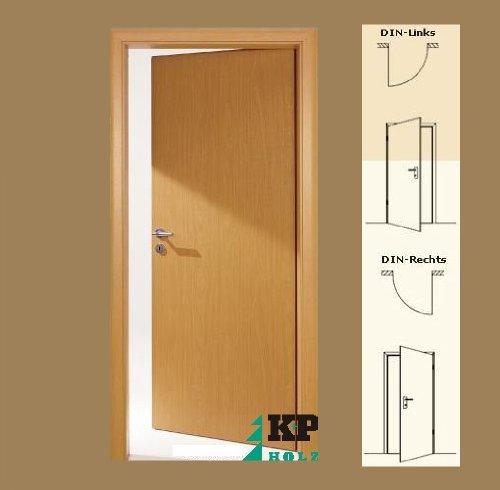 cpl zimmertuer tuer tueren innentueren buche rsp din links 8 145 cm - CPL Zimmertür Tür Türen Innentüren Buche RSP DIN links / 8-14,5 cm