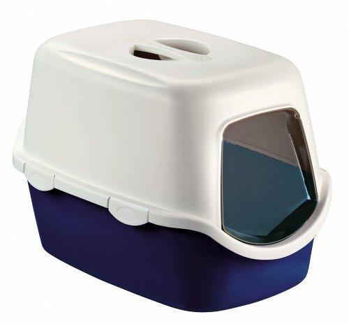 stefanplast cathy f katzentoilettenhaus m tuerefilter blau 56x40x40cm - Stefanplast CATHY F Katzentoilettenhaus m. Türe+Filter, blau, 56x40x40cm
